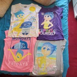 4 Disney Inside Out Girls t-shirts
